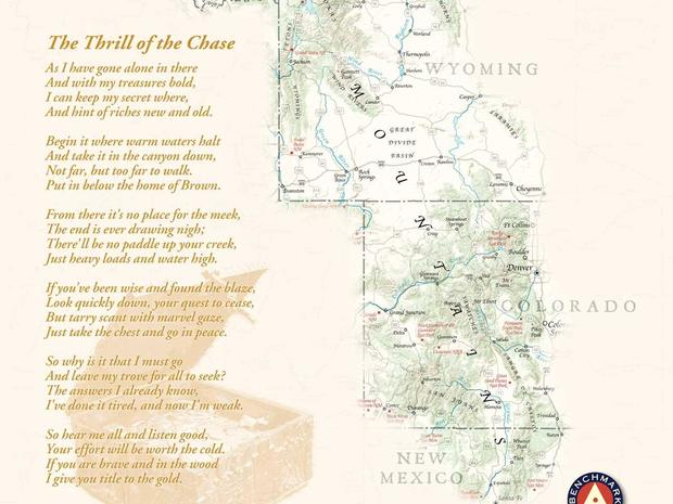 The Fenn treasure map