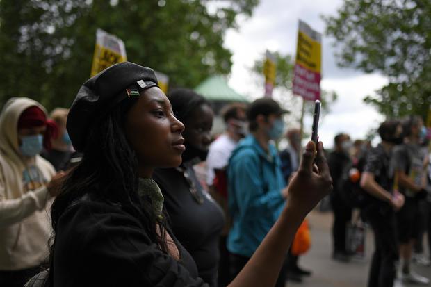 Britain BLM Activist Shot