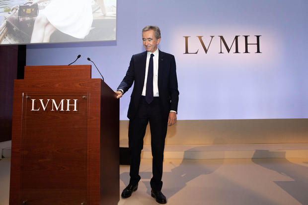 LVMH Moet Hennessy Louis Vuitton SE Chief Executive Officer Bernard Arnault Presents Earnings