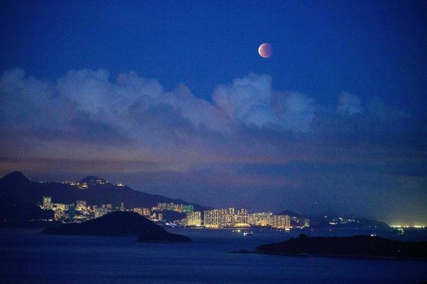 HONG KONG-SCIENCE-ASTRONOMY-MOON-ECLIPSE