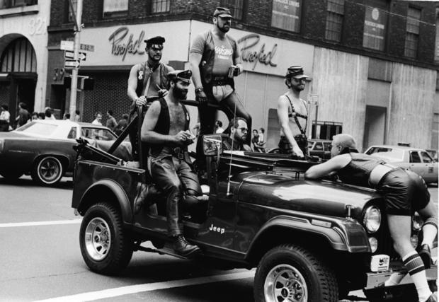 Leathermen in Gay Pride Parade