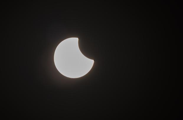 Solar eclipse in Kazakhstan