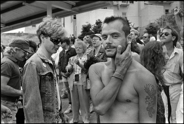 Shirtless Man At The International Lesbian & Gay Freedom Day Parade