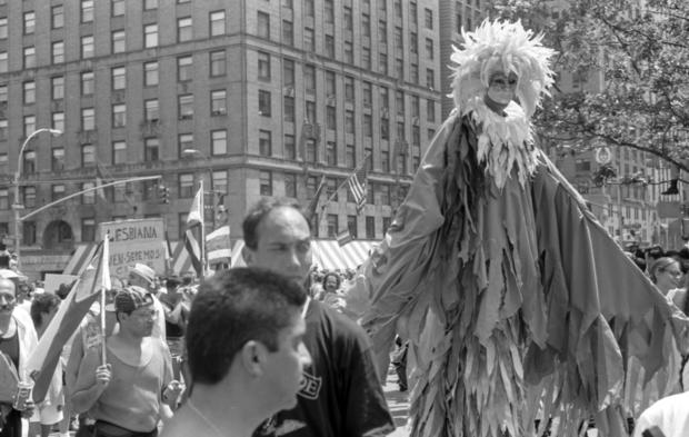 Activists At The 'Stonewall 25' Gay Pride March