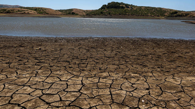 Dry lake bed in Nicasio, California