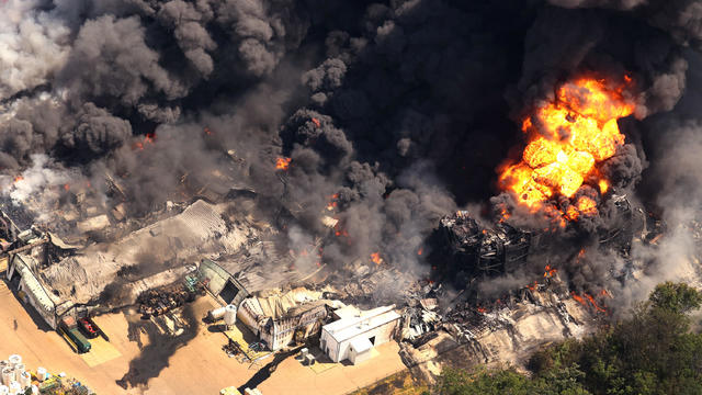 Explosion At Rockton Chemtool Plant Causes Massive Chemical Fire