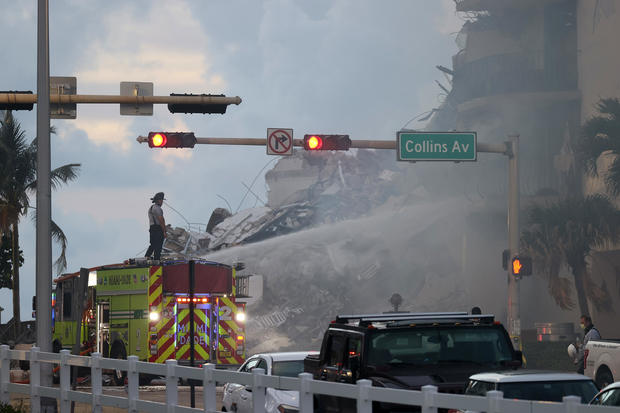 Search and rescue operations at collapsed building in Surfside, Florida