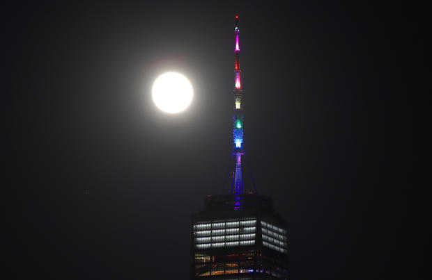 Super Strawberry Moon Rises in New York City