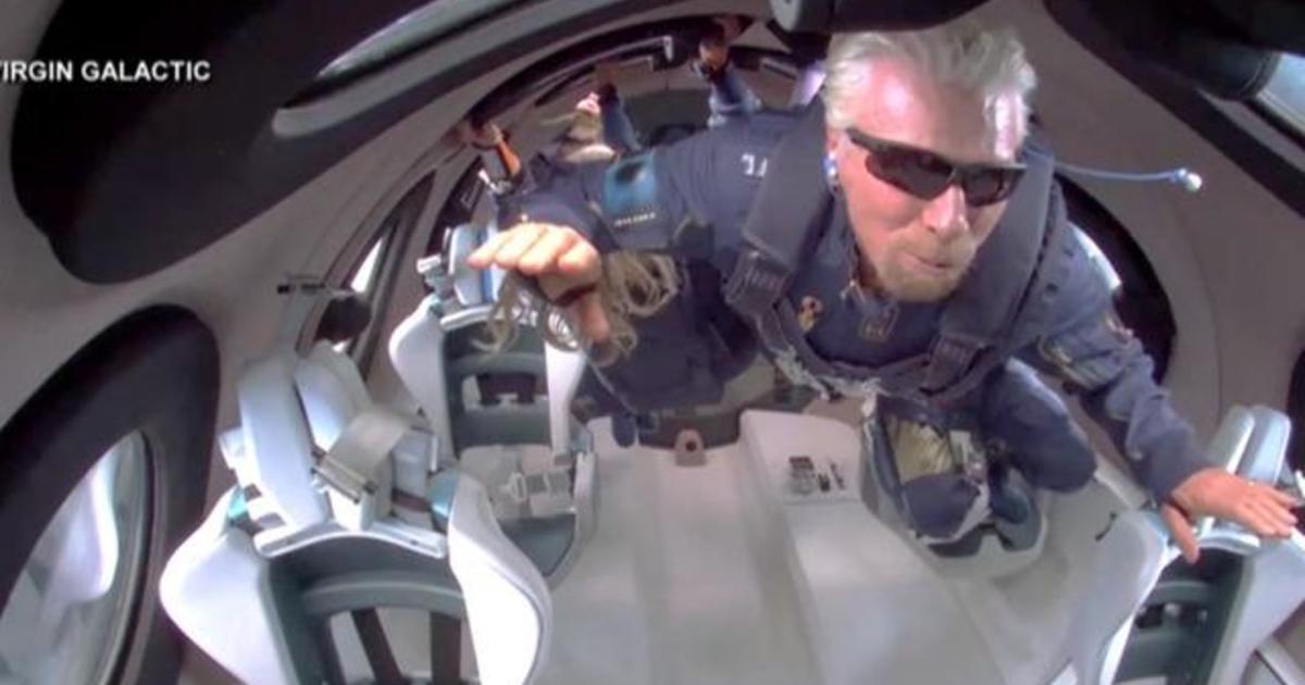 Richard Branson and Virgin Galactic complete successful space flight - CBS  News