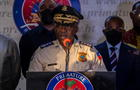 Head of Haitian National Police, Leon Charles speaks during a news conference in Port-au-Prince