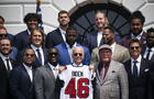 President Biden Hosts Super Bowl LV Champions Tampa Bay Buccaneers At White House