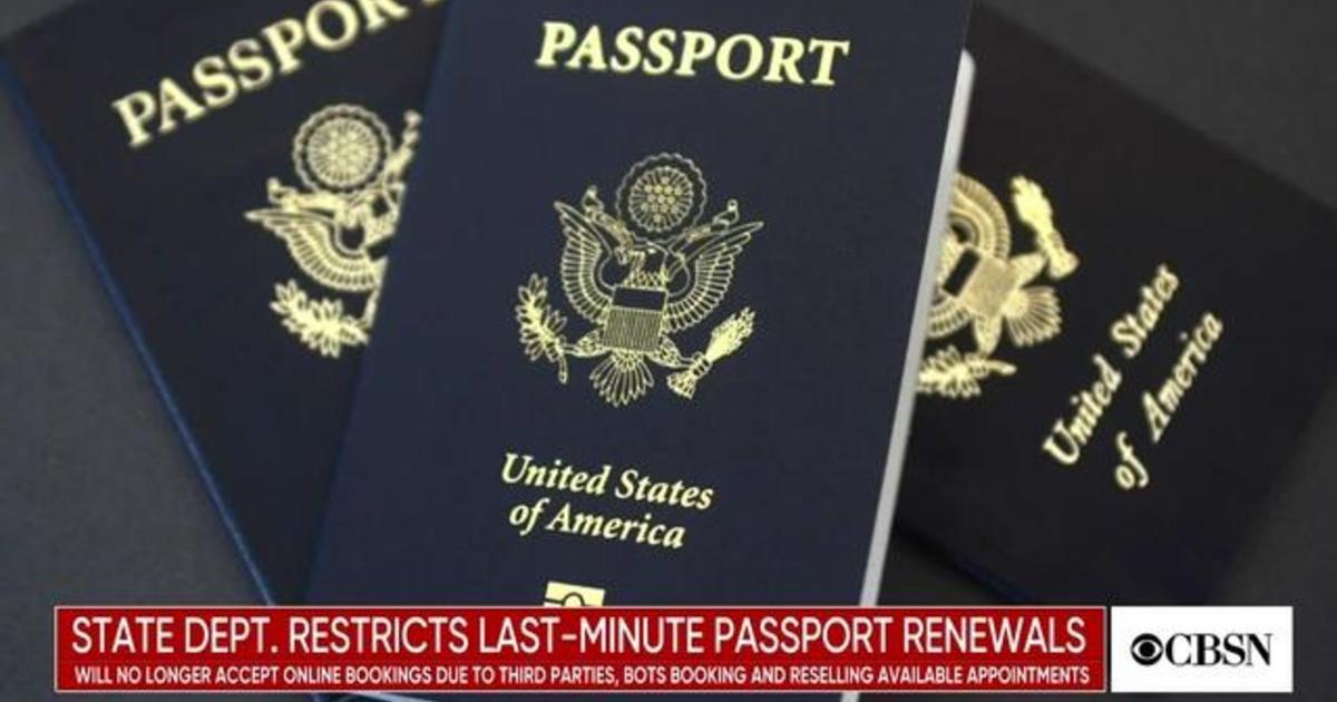 State Department restricts last-minute passport renewals