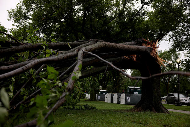 Possible Tornado Leaves Behind Damage in Washington DC