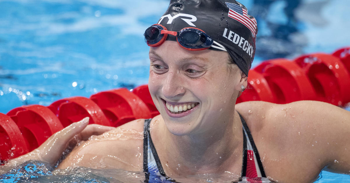 Katie Ledecky wins first Tokyo Games gold in third try