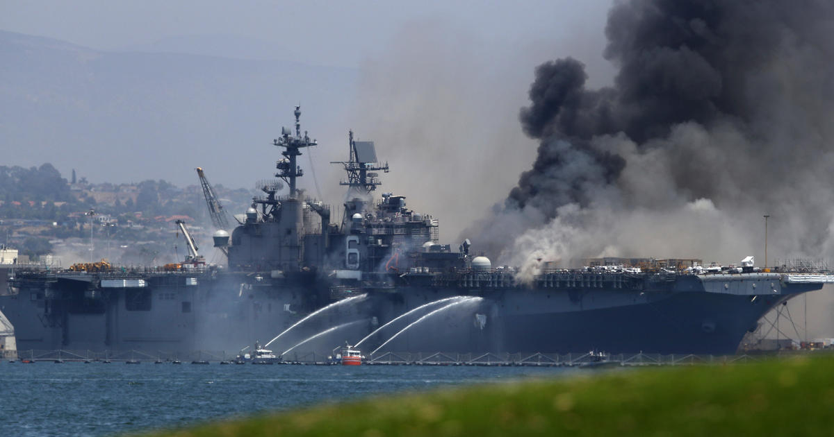 Navy charges sailor with setting fire that destroyed U.S. ship