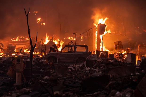 Greenville California Wildfire