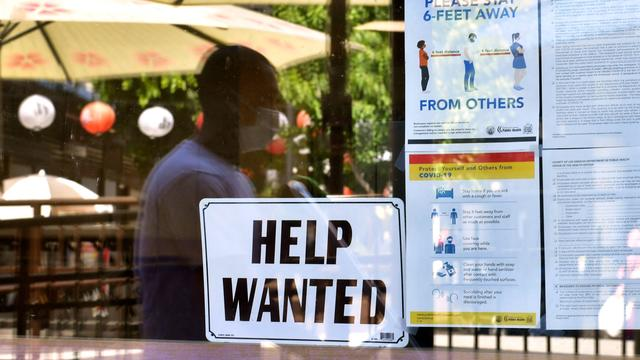 """A """"help wanted"""" sign"""