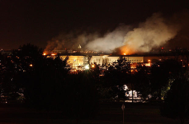 Smoke Rises From The Pentagon After A Terrorist Attack September 11 2001 In Washington D