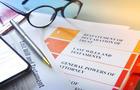 Ballpoint Pen Resting On Living Trust Documents