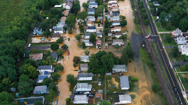 Central New Jersey hit with flooding