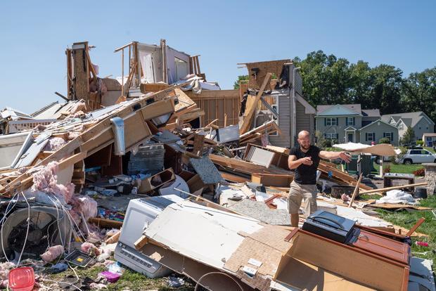 New Jersey tornado damage