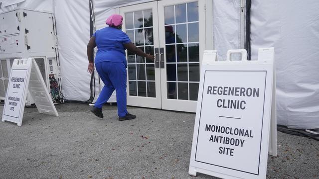 Nurse at a COVID-19 treatment site in Florida
