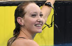 Madison Wilson reacts after her 200-meter freestyle heat during the Australian National Olympic Swimming Trials at SA Aquatic & Leisure Centre on June 14, 2021, in Adelaide, Australia.