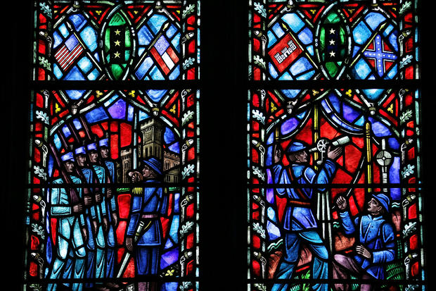 Confederate Flags Depicted In Stained Glass Windows At Washington Nat'l Cathedral