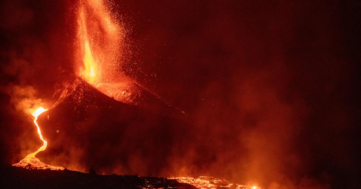 New lava vents burst open in La Palma volcano as eruption forces airport to close - CBS News