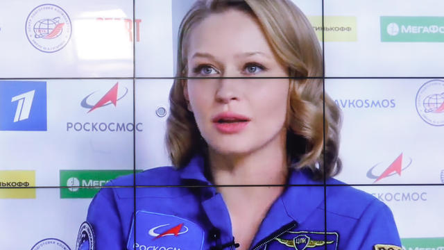 Russian film crew gives news conference after spending 12 days on ISS making a feature film