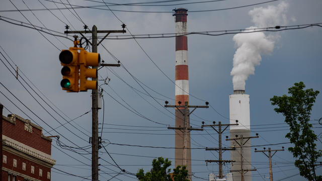 Smokestack from a coal power plant